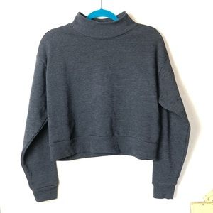 wild fable Sweaters - Wild Fable Mock Neck Gray Crop Sweater Size M